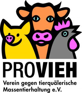 Be vegan, be happy! Logo PROVIEH