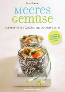 Be vegan, be happy. Buchcover Meeres Gemüse.
